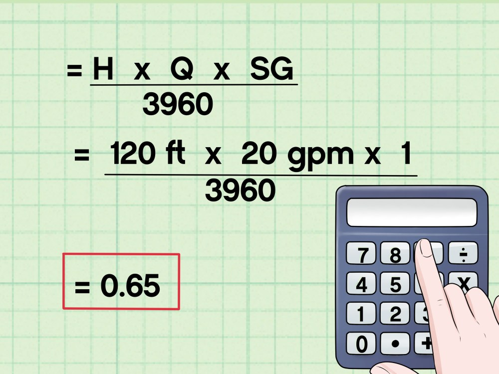 medium resolution of how to calculate water pump horsepower