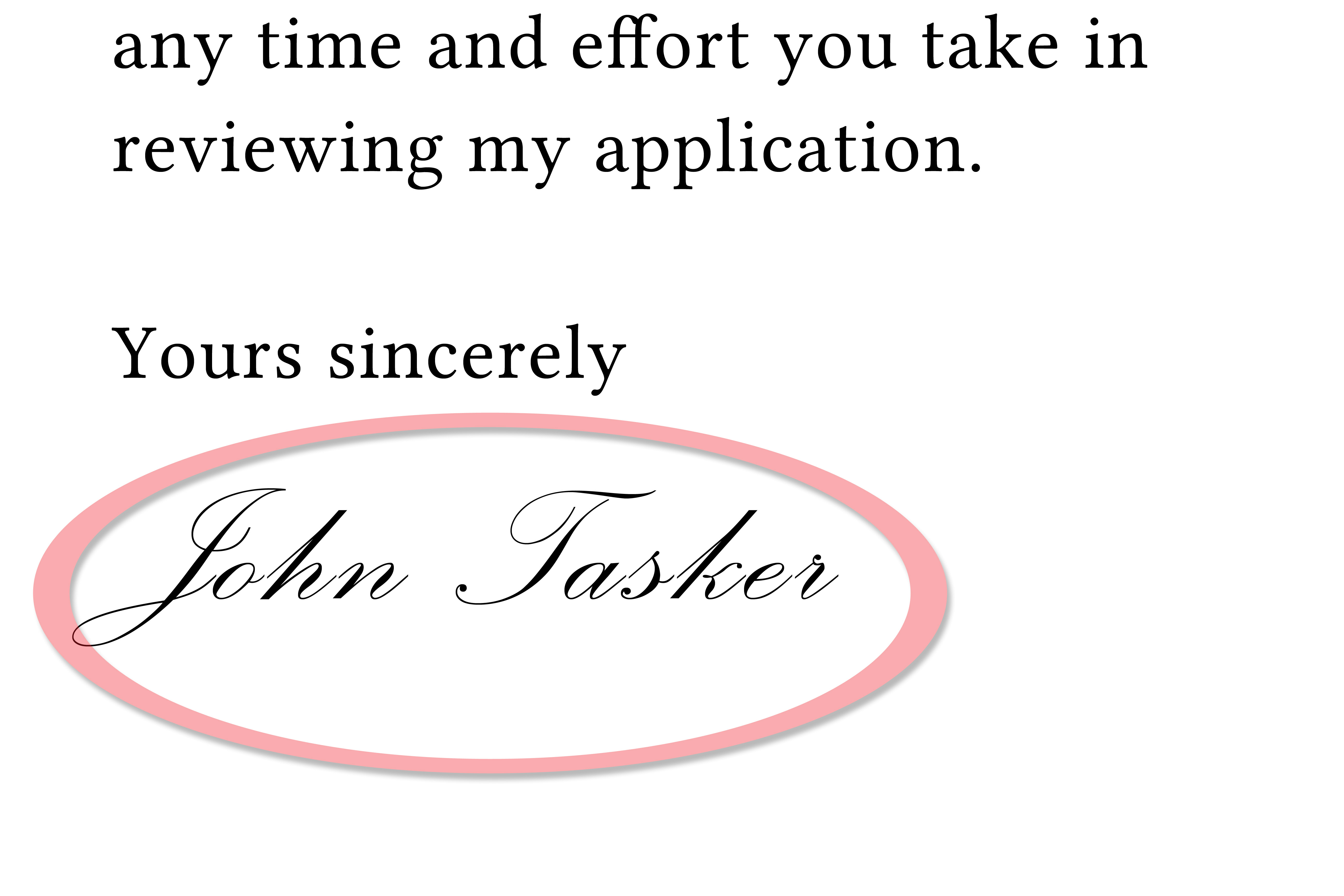 best way to end a cover letters