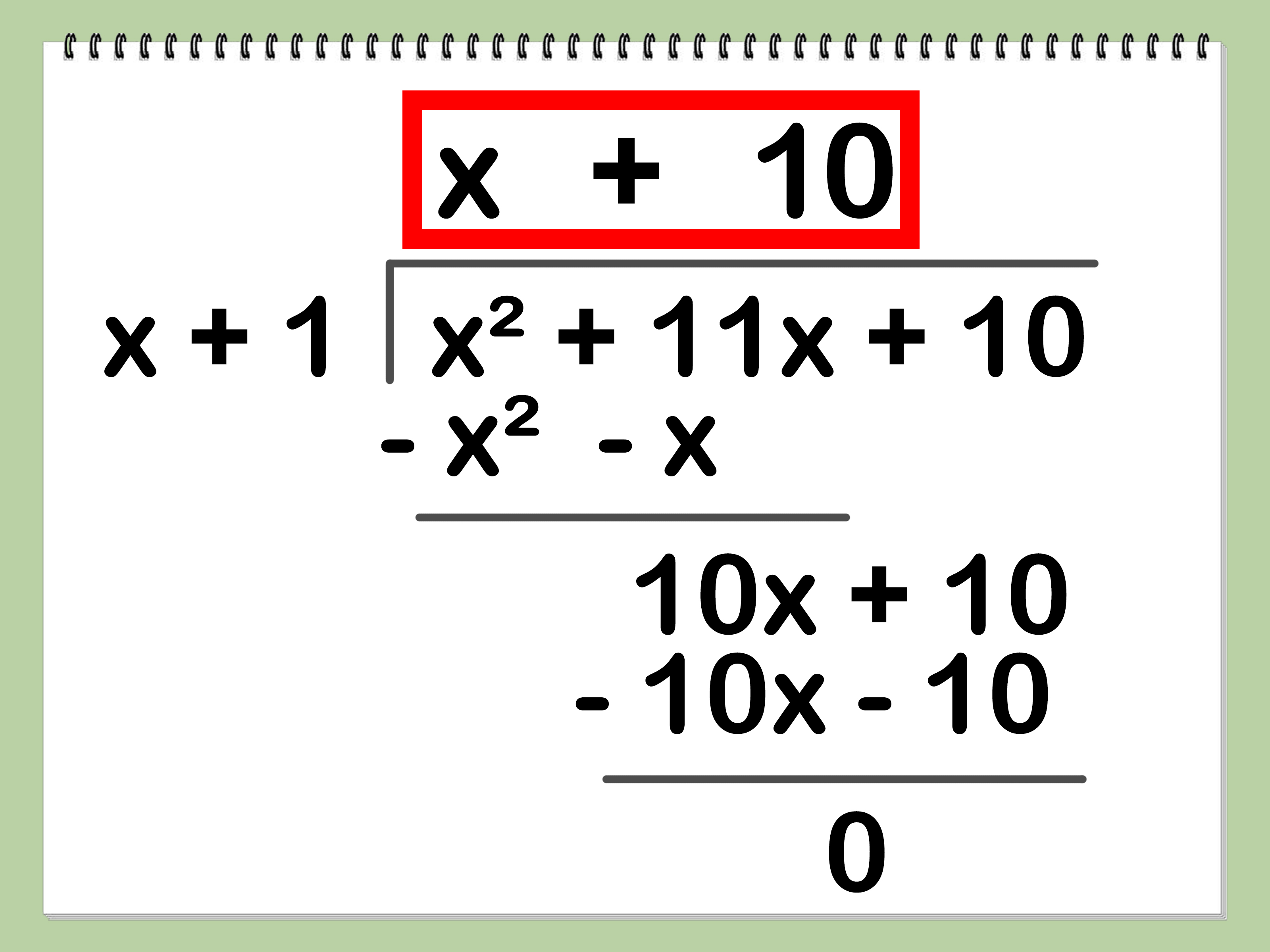How To Divide Polynomials 10 Steps With Pictures