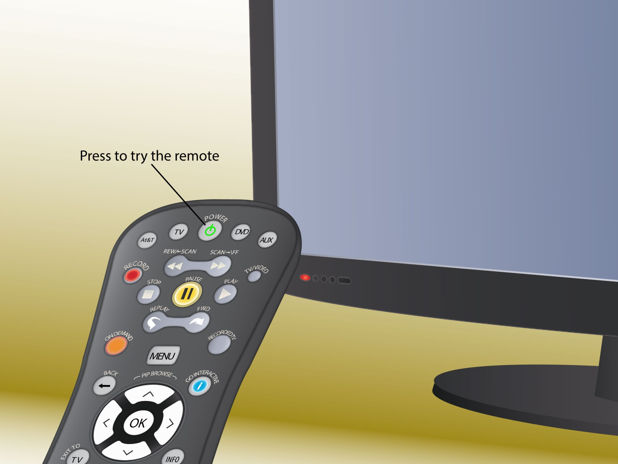 hight resolution of how to program an at t uverse remote control