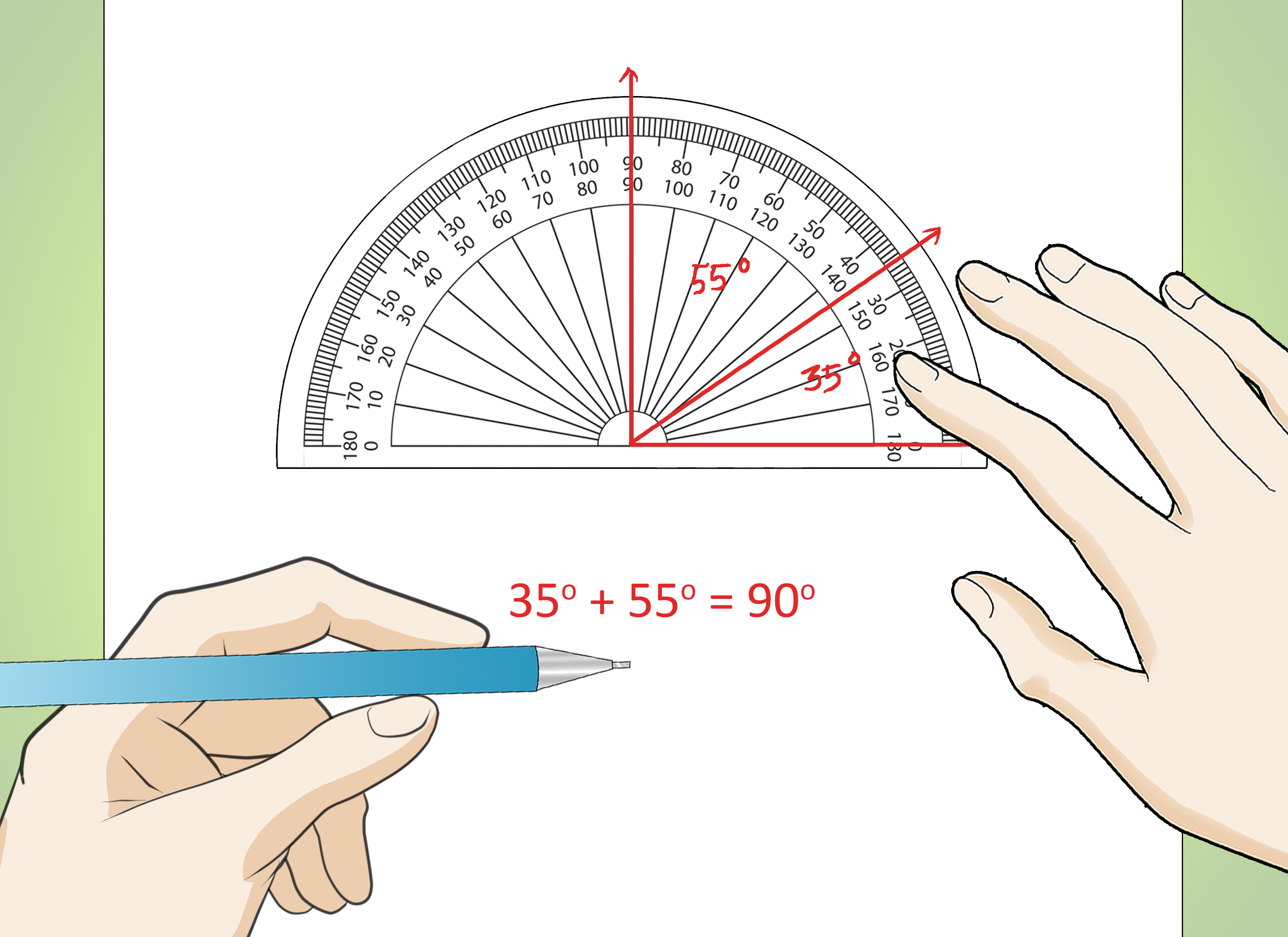 How To Make Angles In Math Using A Protractor 9 Steps