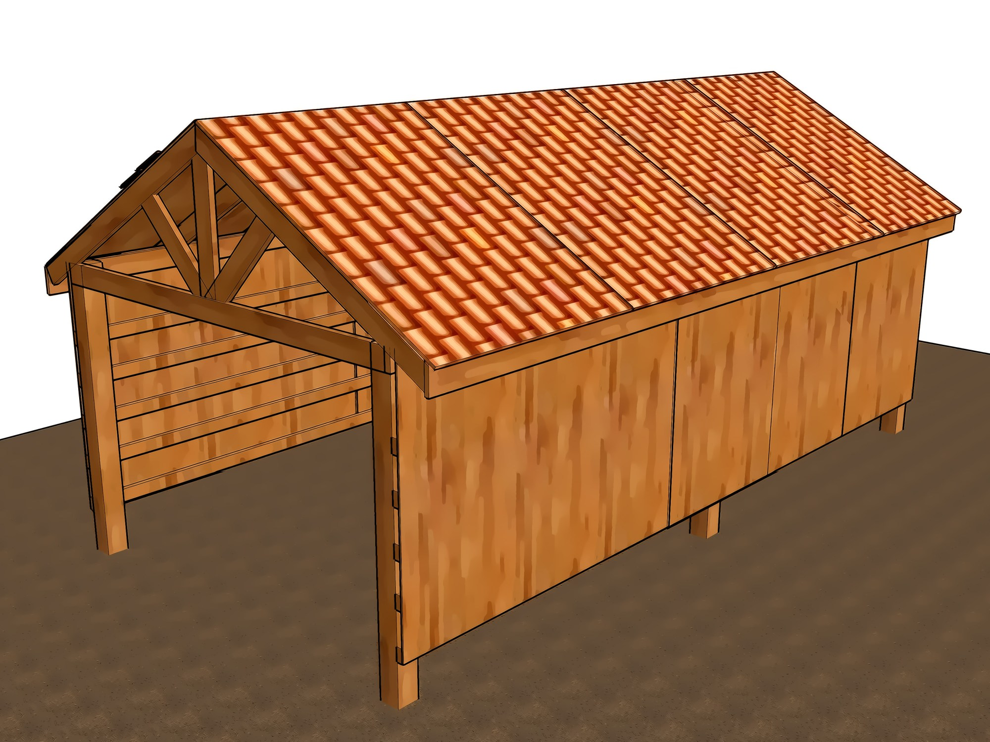 hight resolution of how to build a pole barn