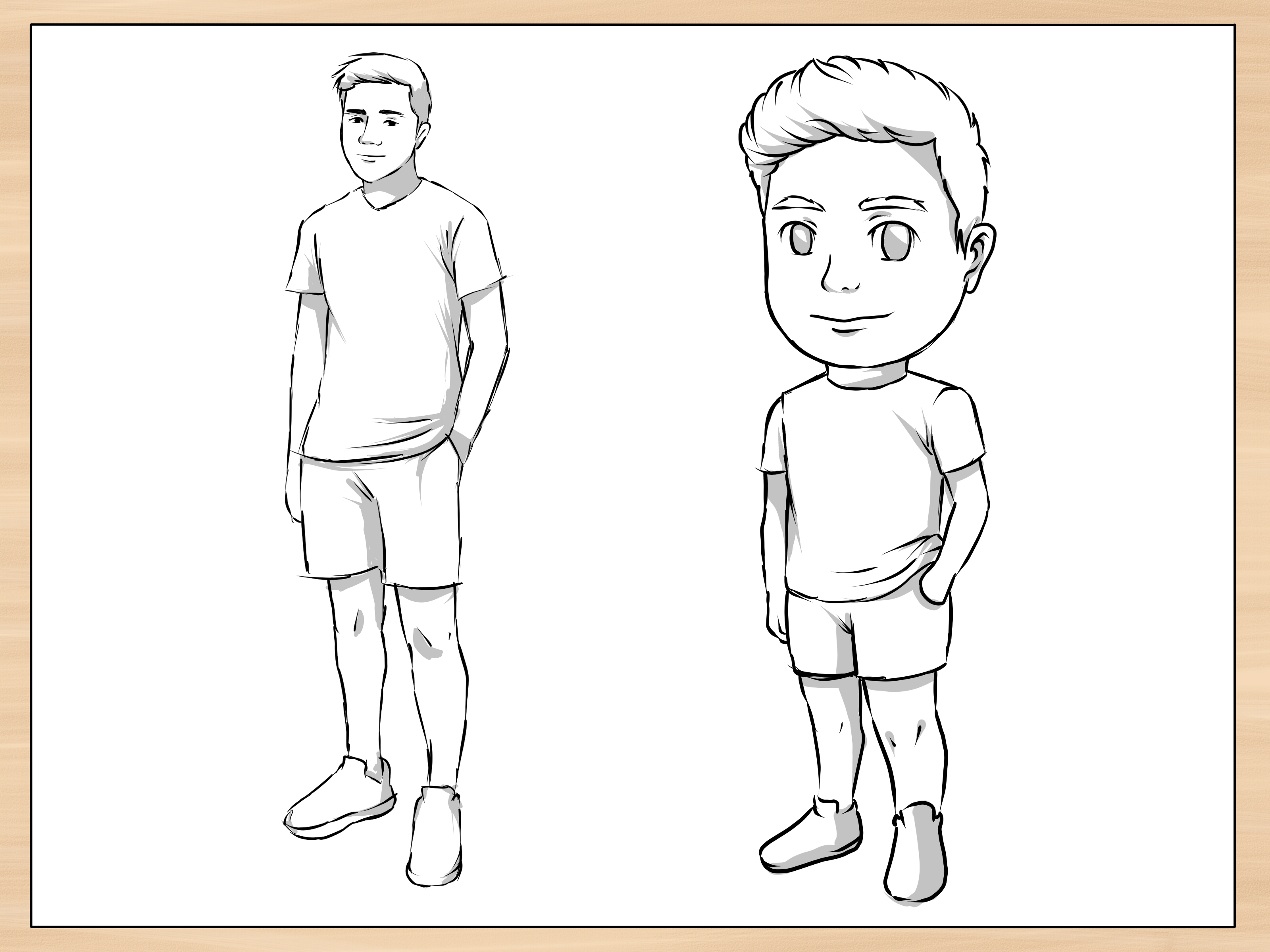 How To Draw A Person 14 Steps With Pictures