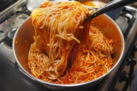 Image result for making spaghetti