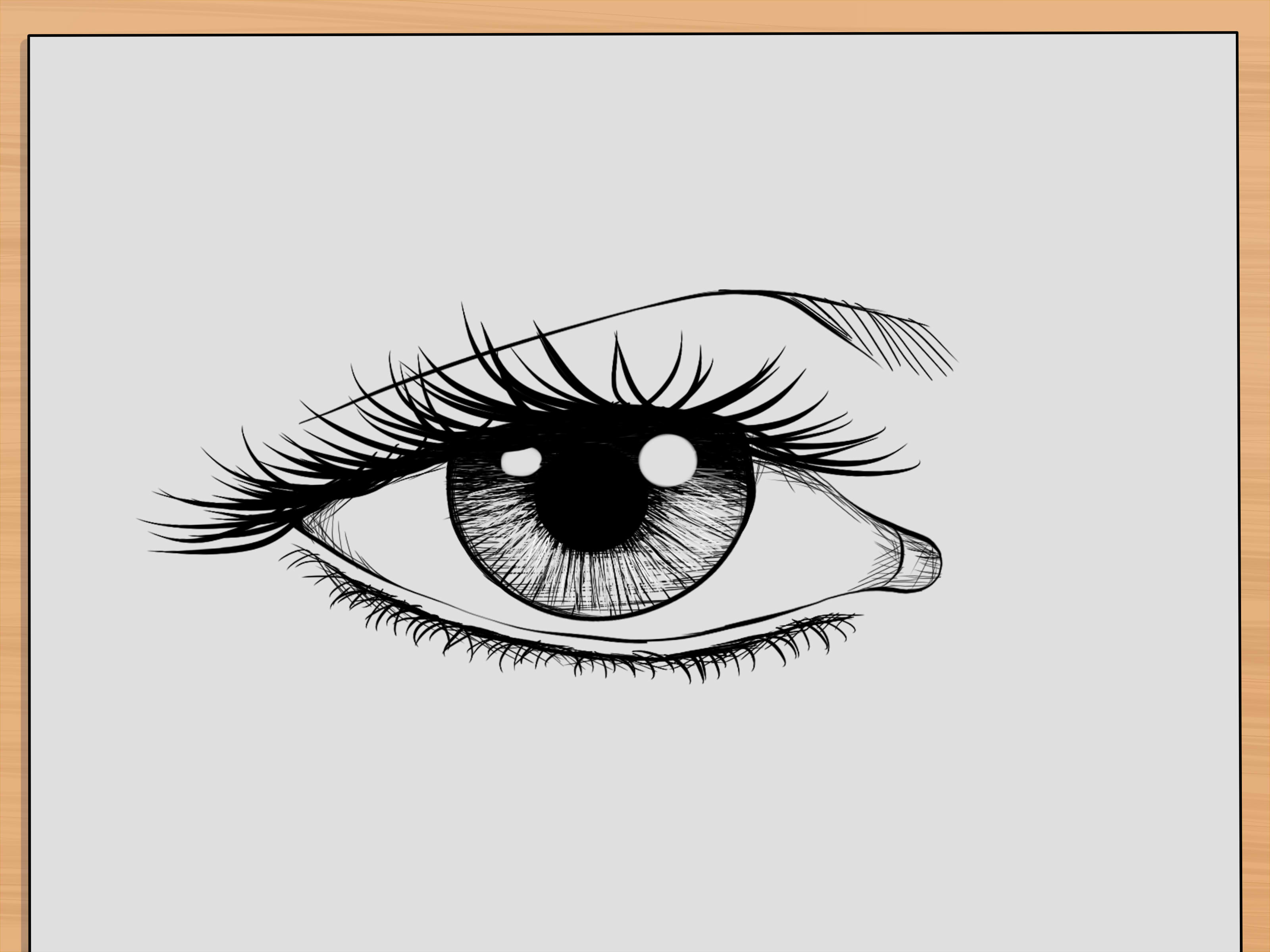 How To Draw Realistic Human Eyes 7 Steps With Pictures