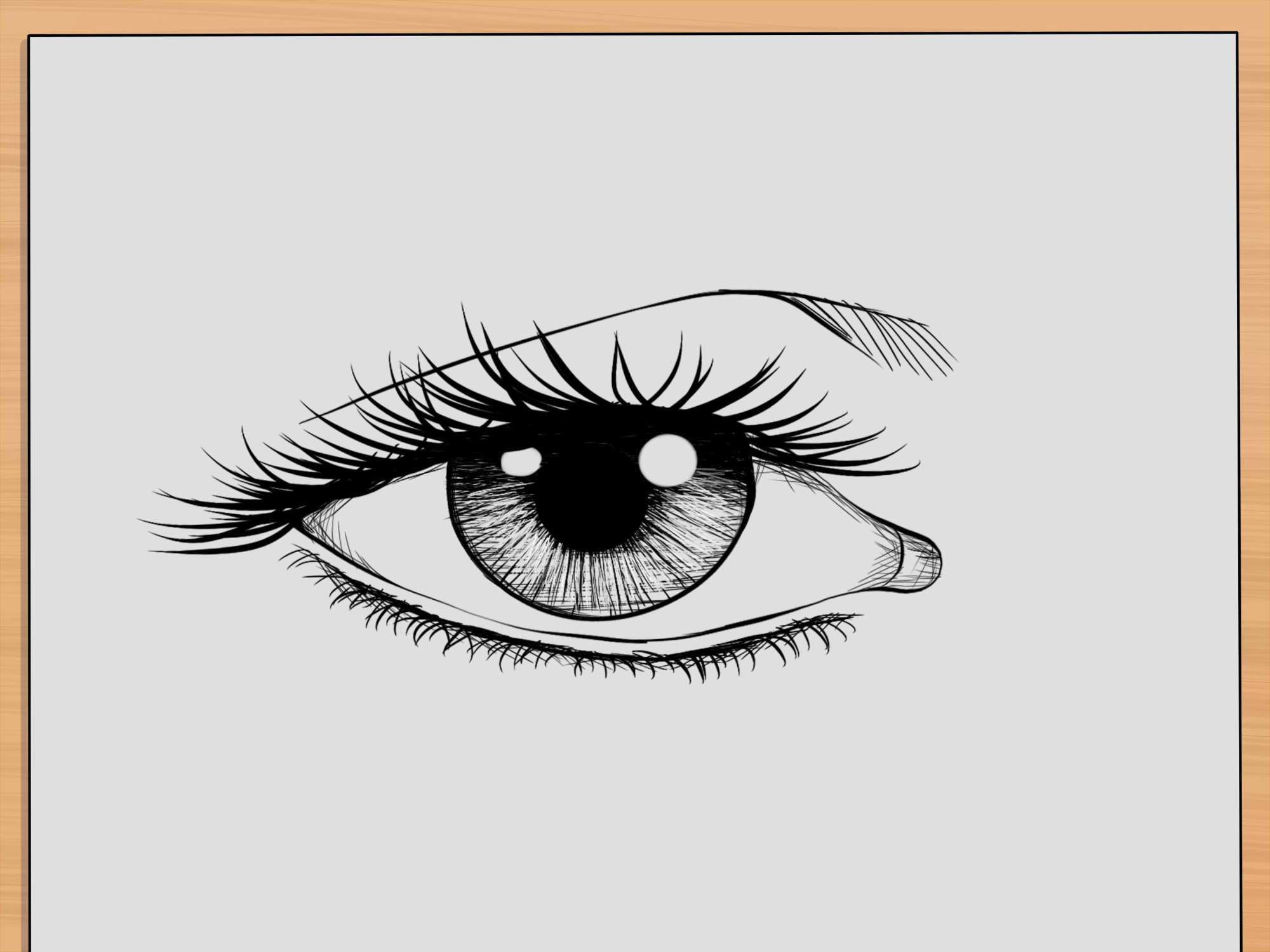 hight resolution of how to draw realistic human eyes