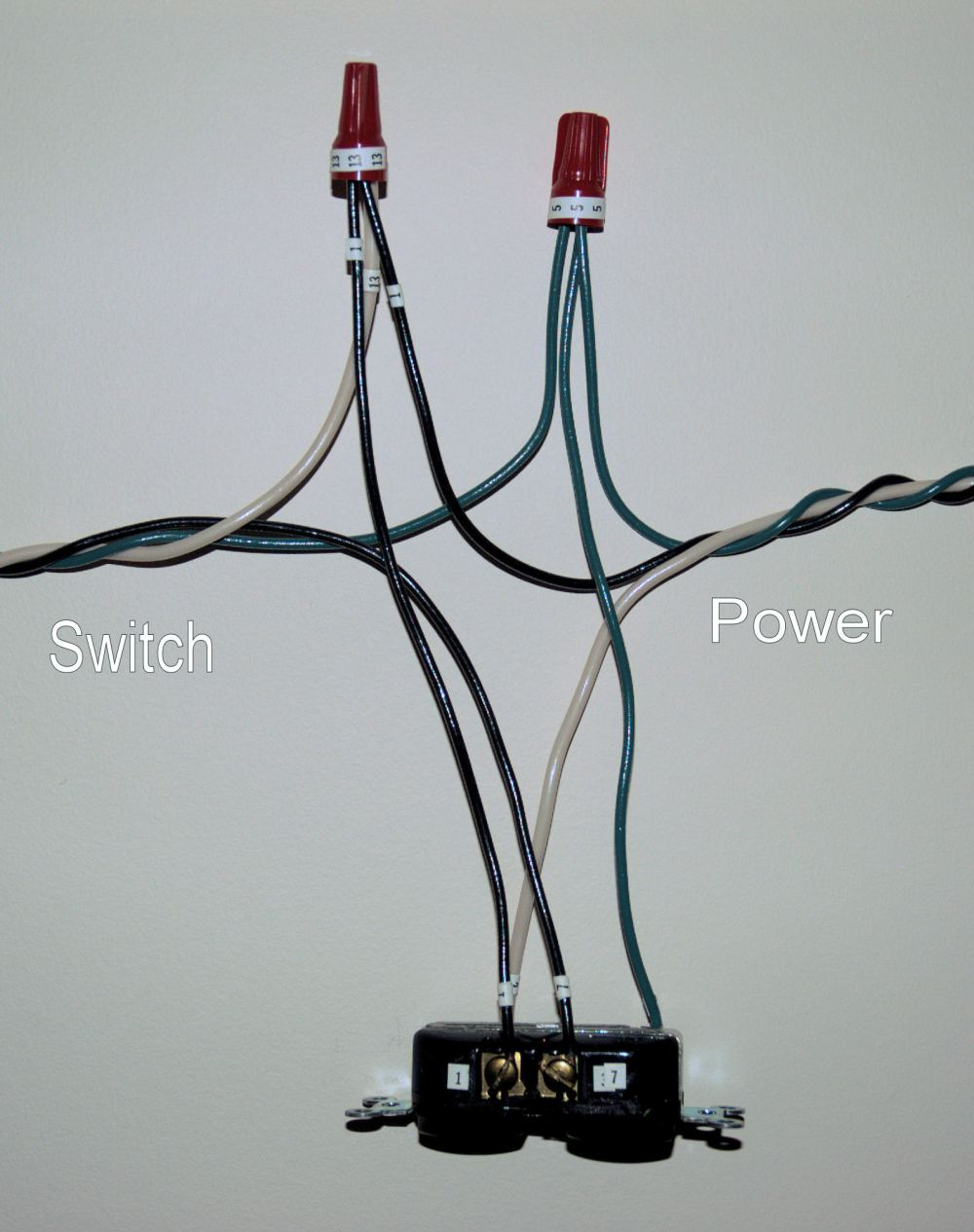 medium resolution of how to install a switch to control the top half of an outlet
