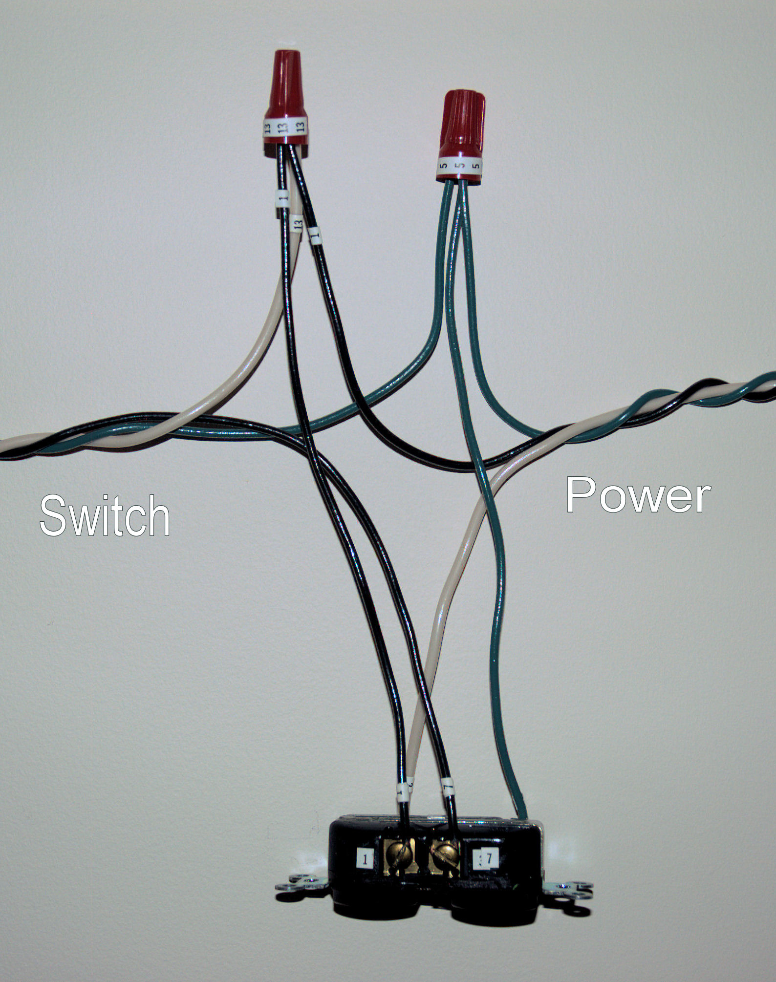 hight resolution of how to install a switch to control the top half of an outlet