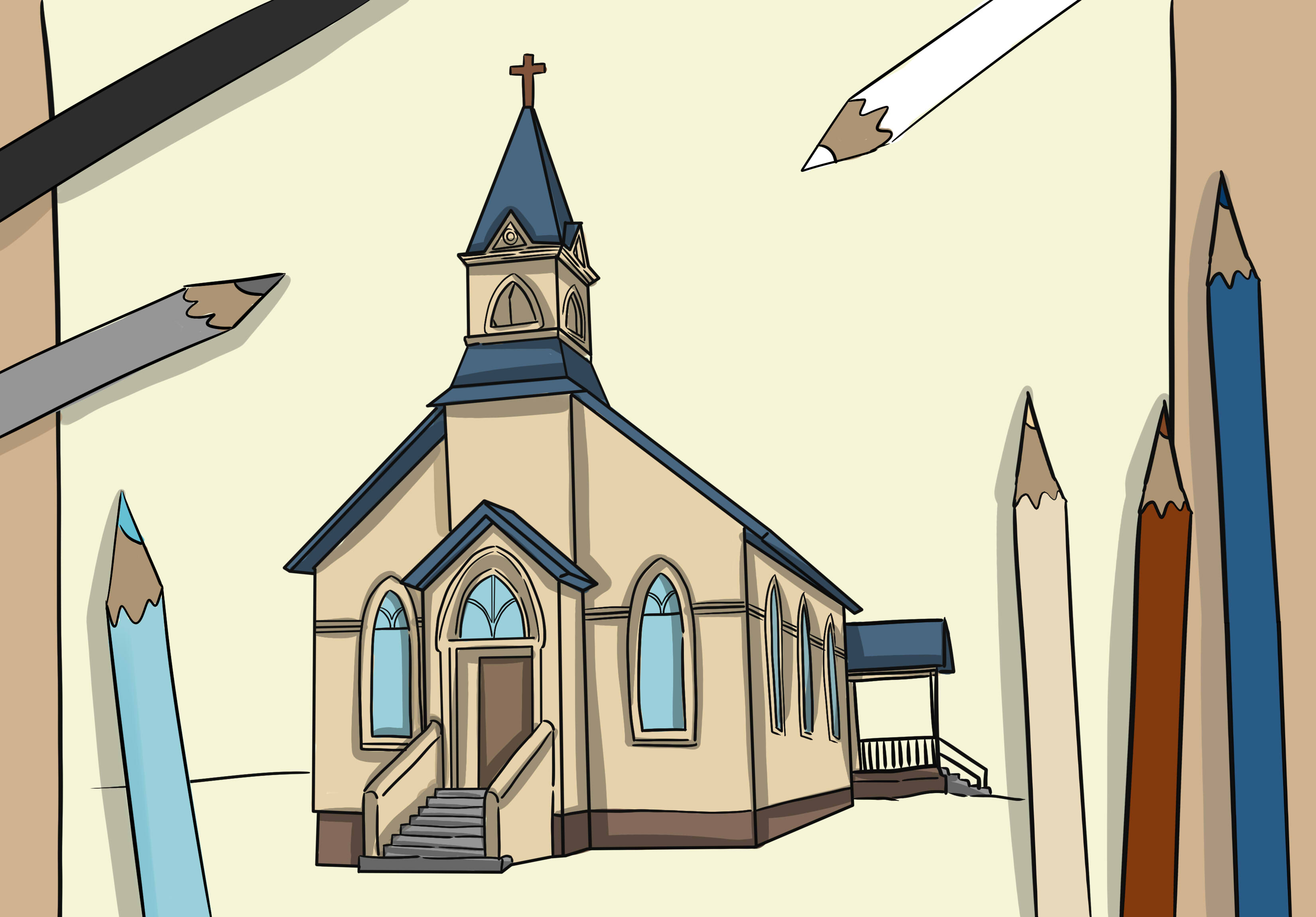 How To Draw A Church 8 Steps With Pictures