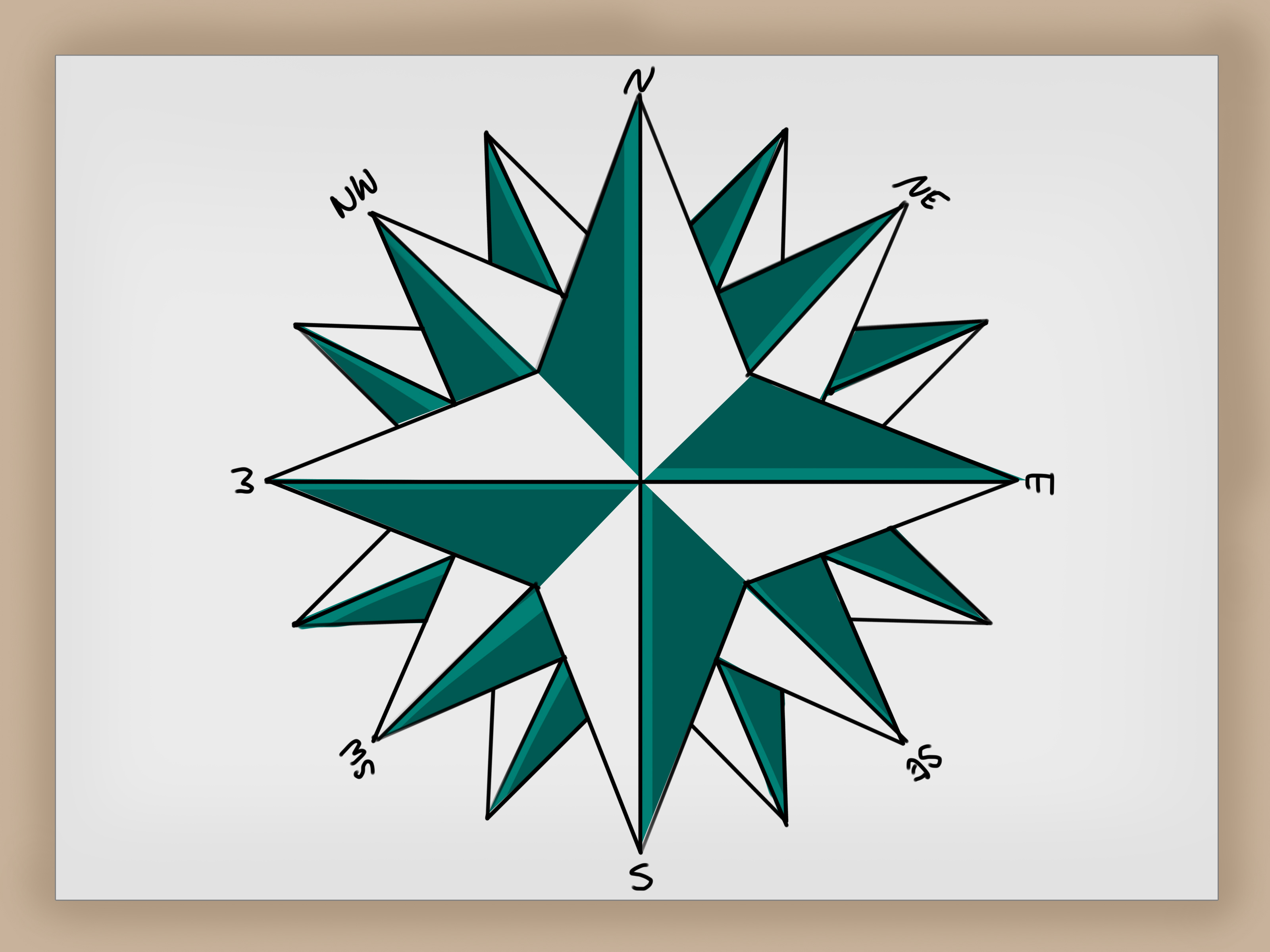 How To Draw A Compass Rose 12 Steps With Pictures