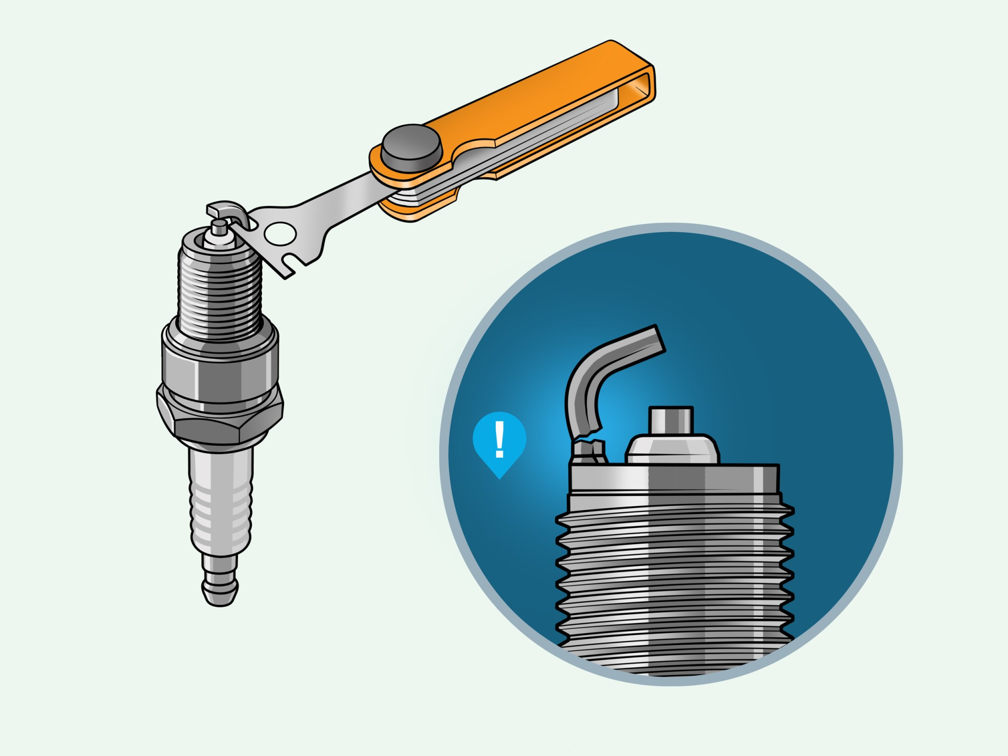 hight resolution of how to gap a spark plug