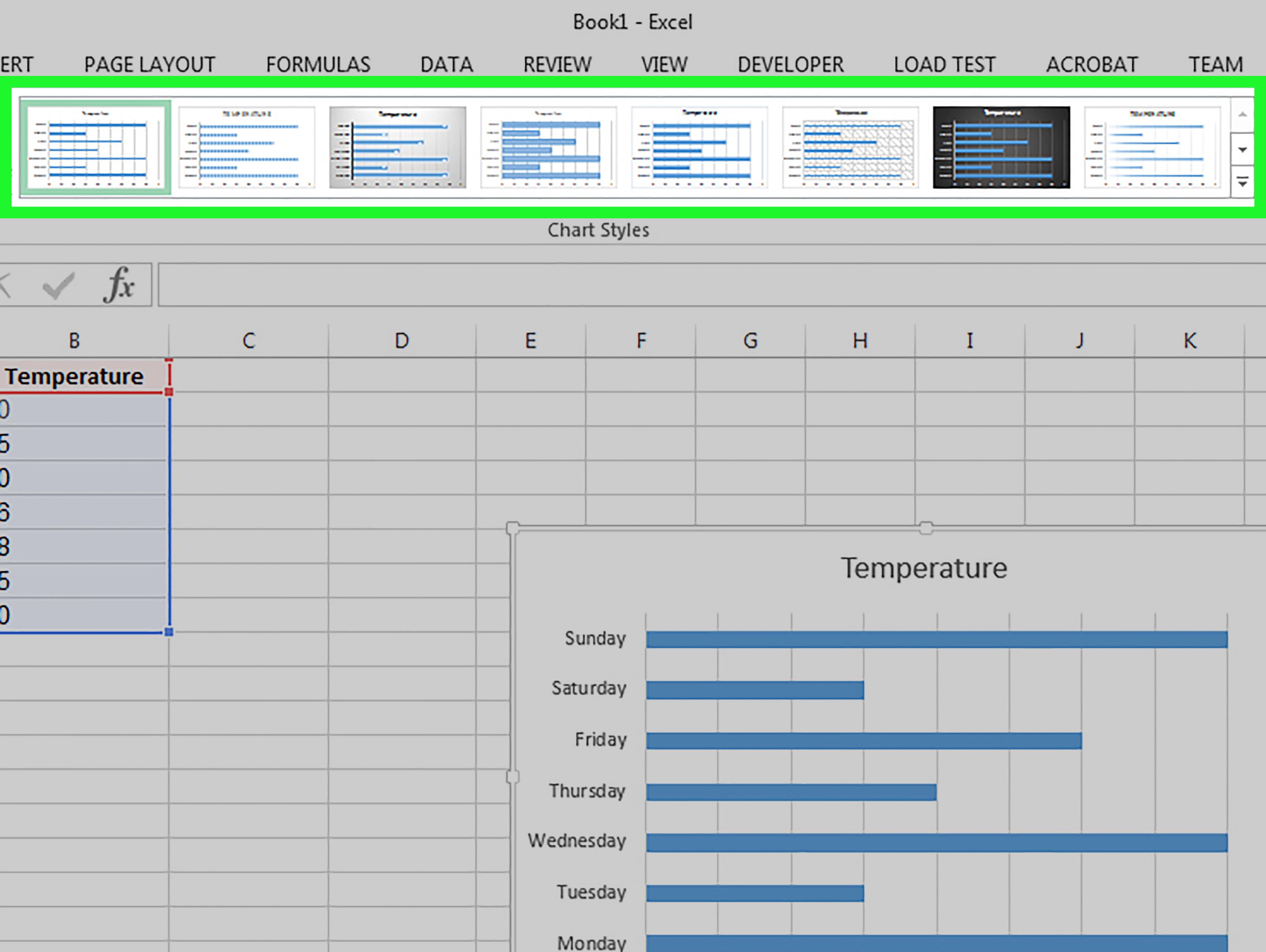 excel bar graph template