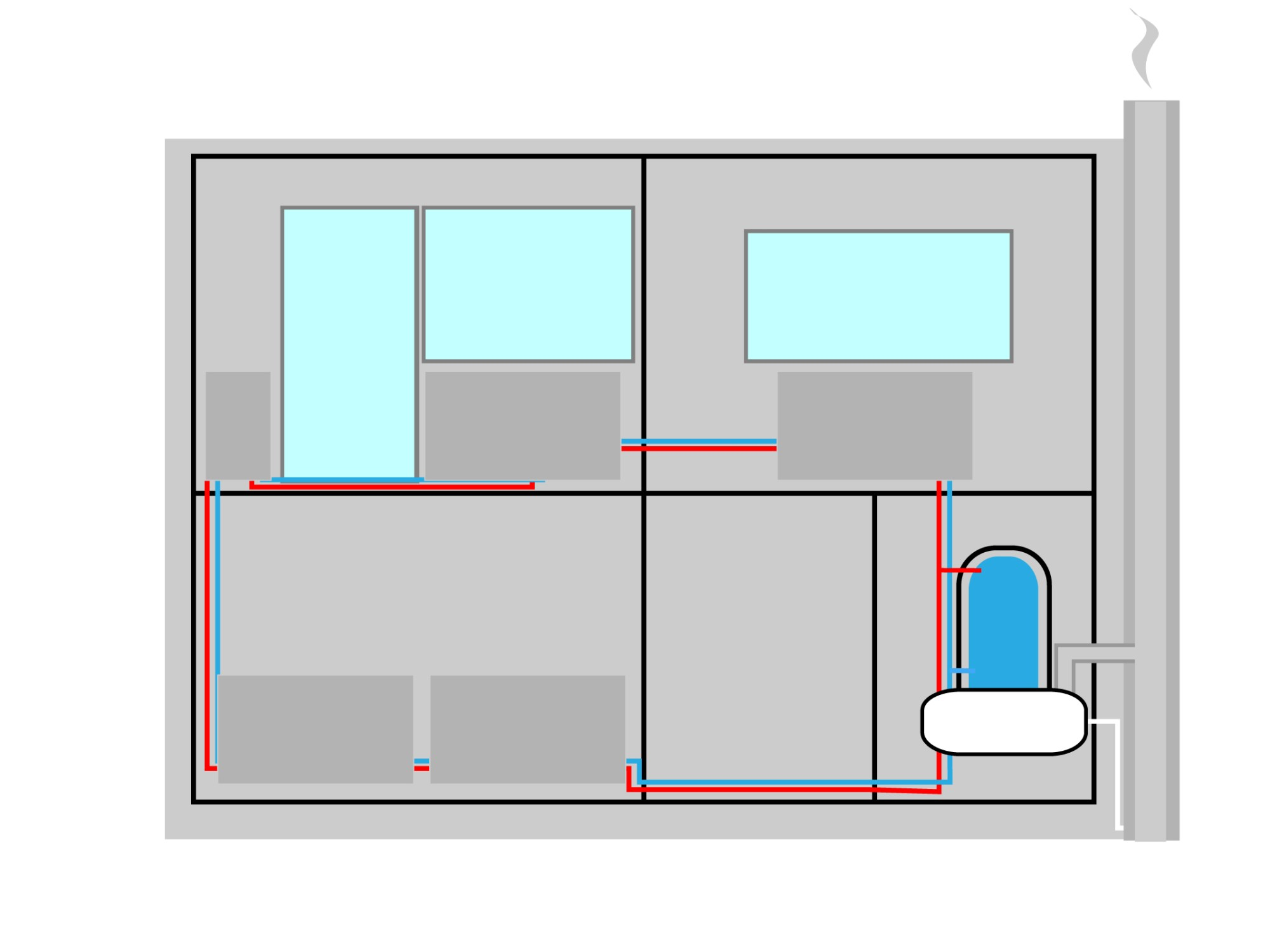 hight resolution of piping a combi boiler diagram