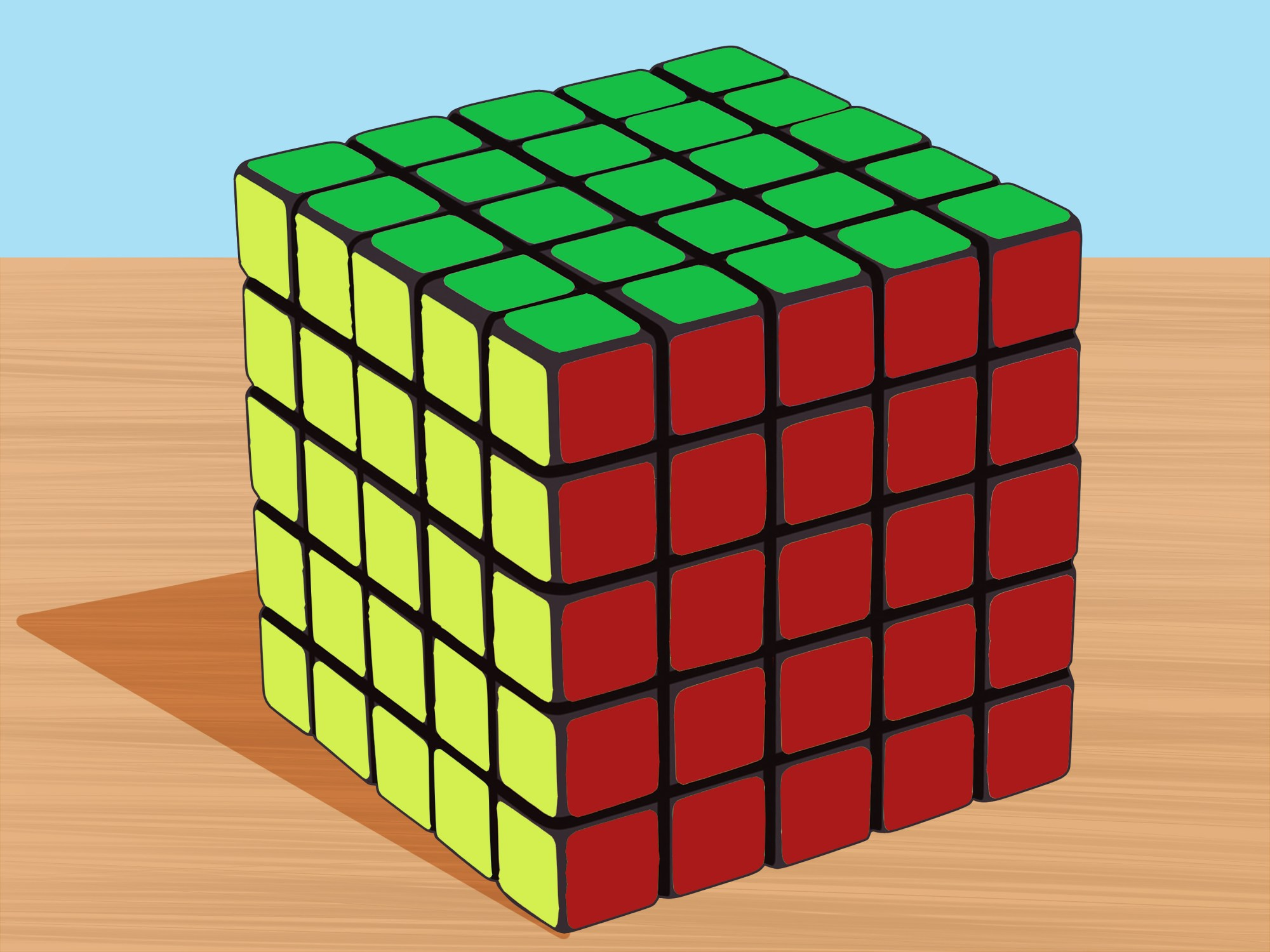 hight resolution of how to solve a 5x5x5 rubik s cube