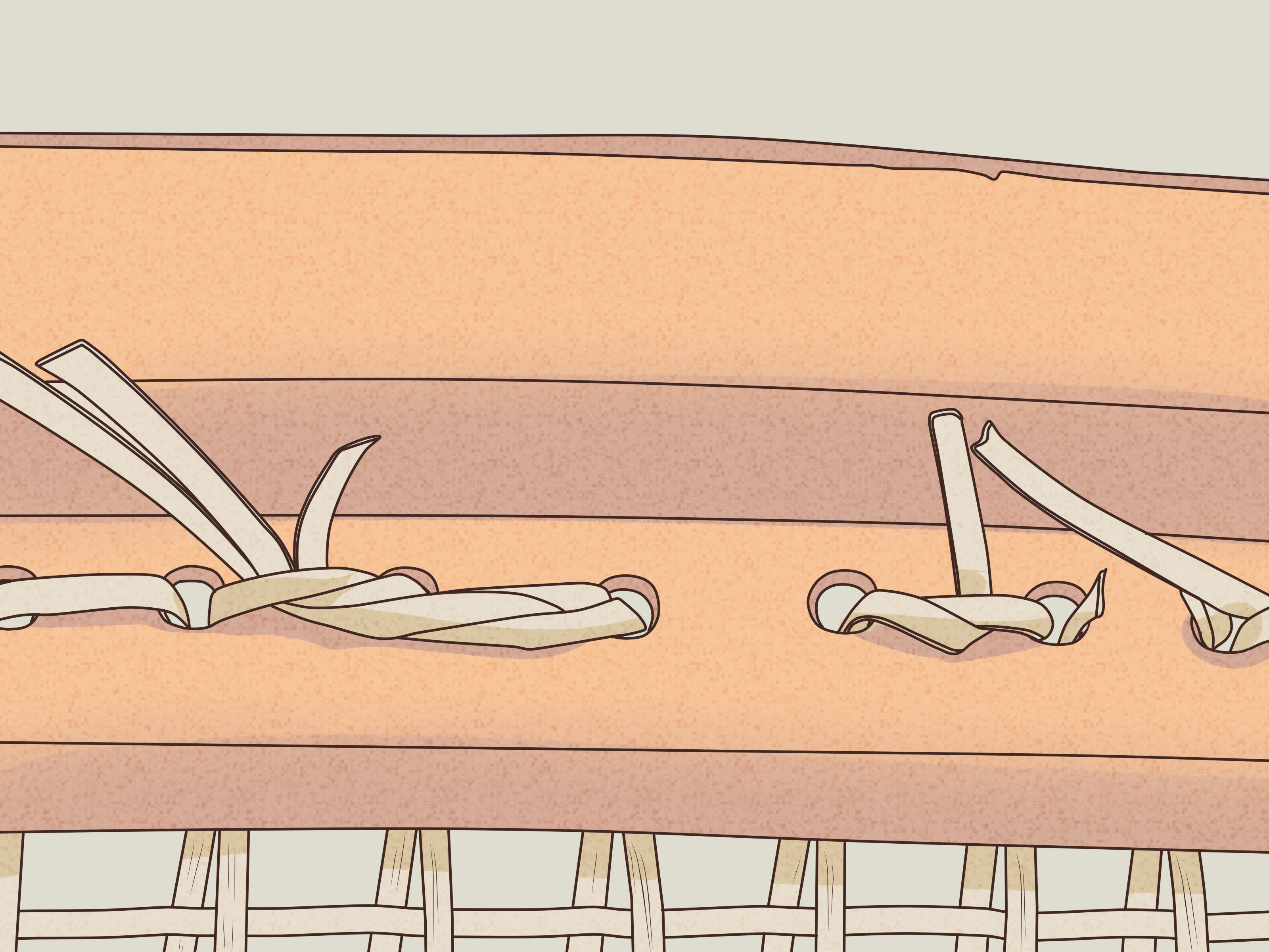 how to cane a chair blue side with pictures wikihow