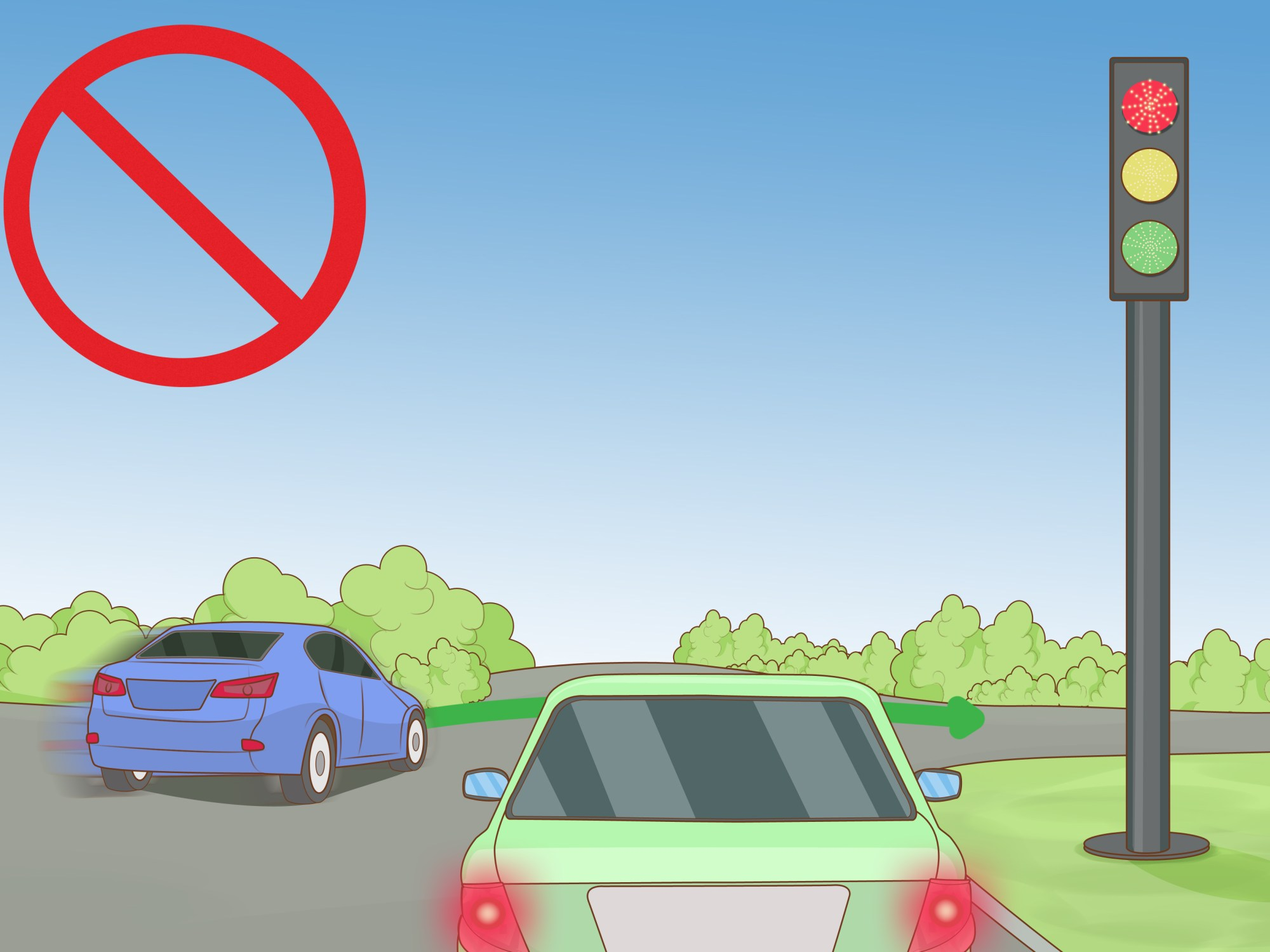 hight resolution of how to determine who has right of way