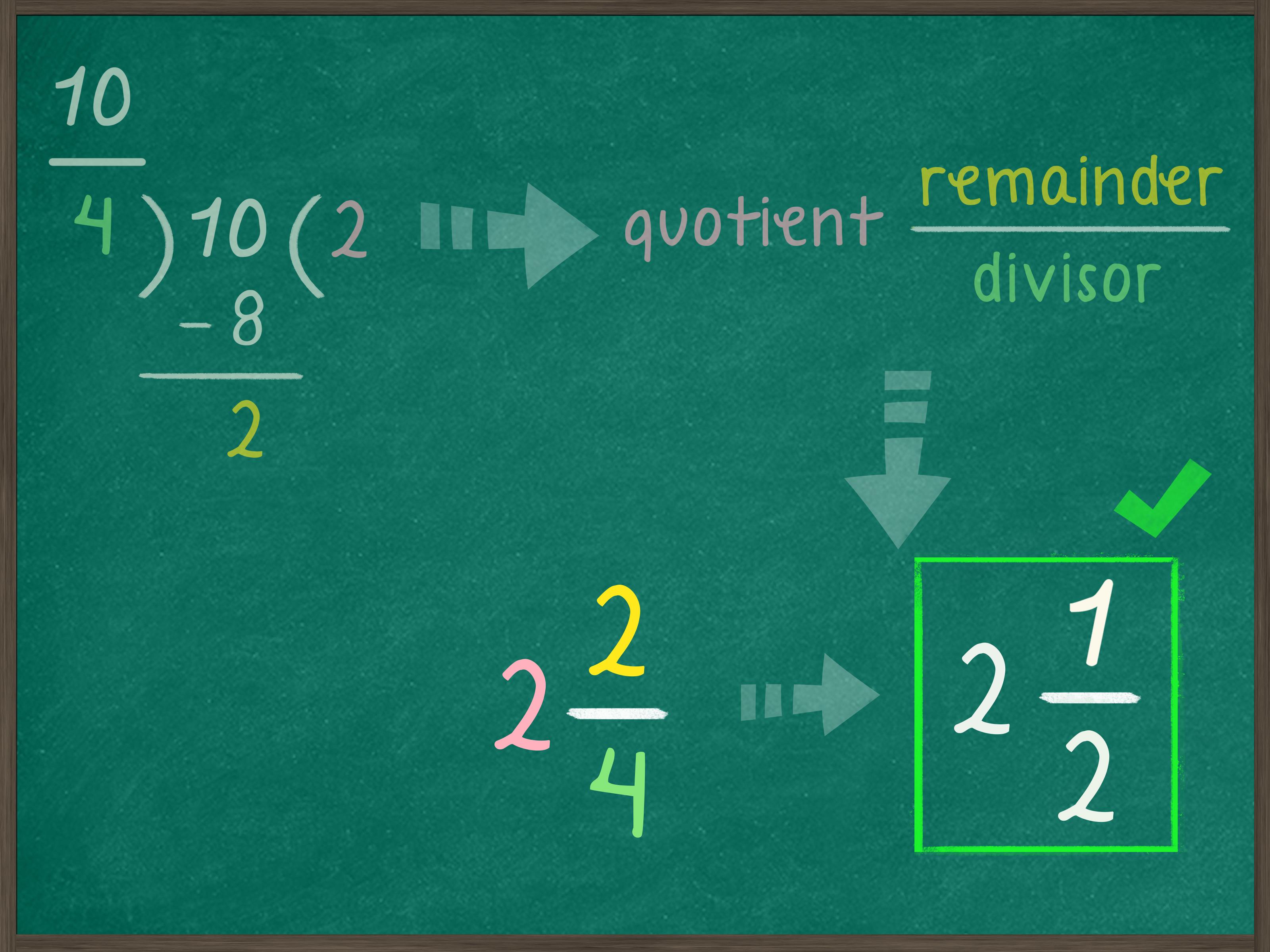 Como Simplificar Una Fraccion Impropia 12 Pasos