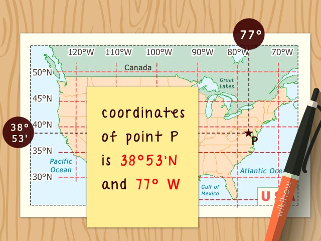 How to Read Latitude and Longitude on a Map: 9 Steps