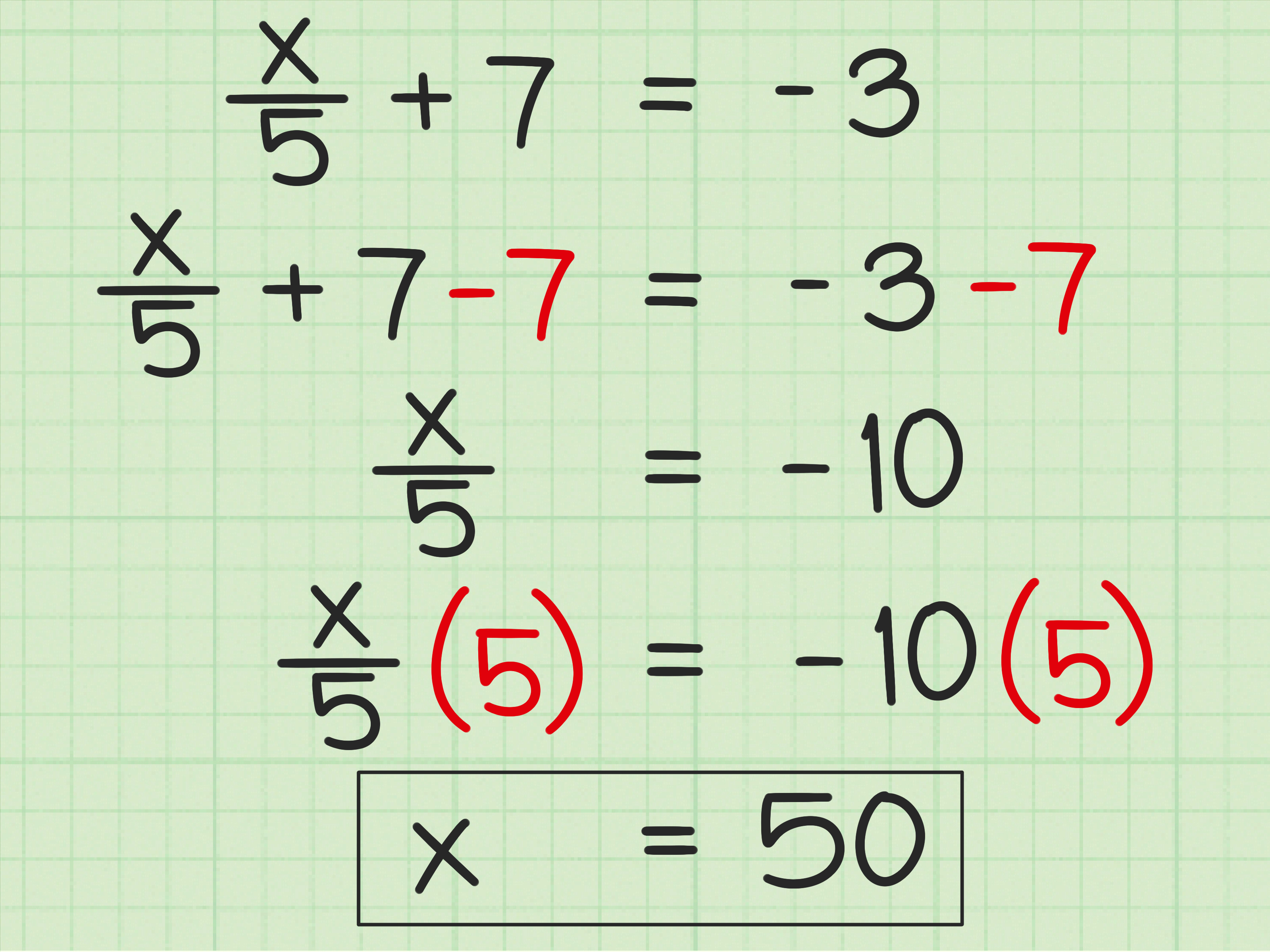 Solving Two Step Equations Worksheet