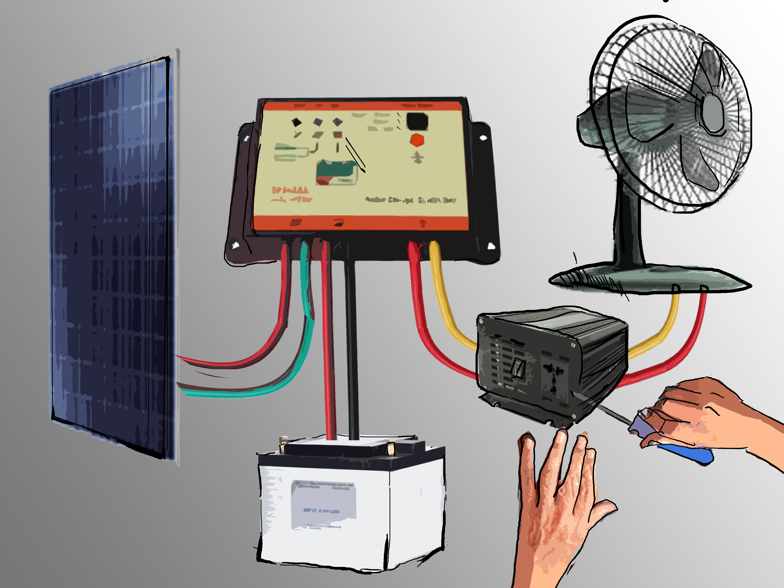 3000w Inverter Wiring Diagram How To Set Up A Small Solar Photovoltaic Power Generator