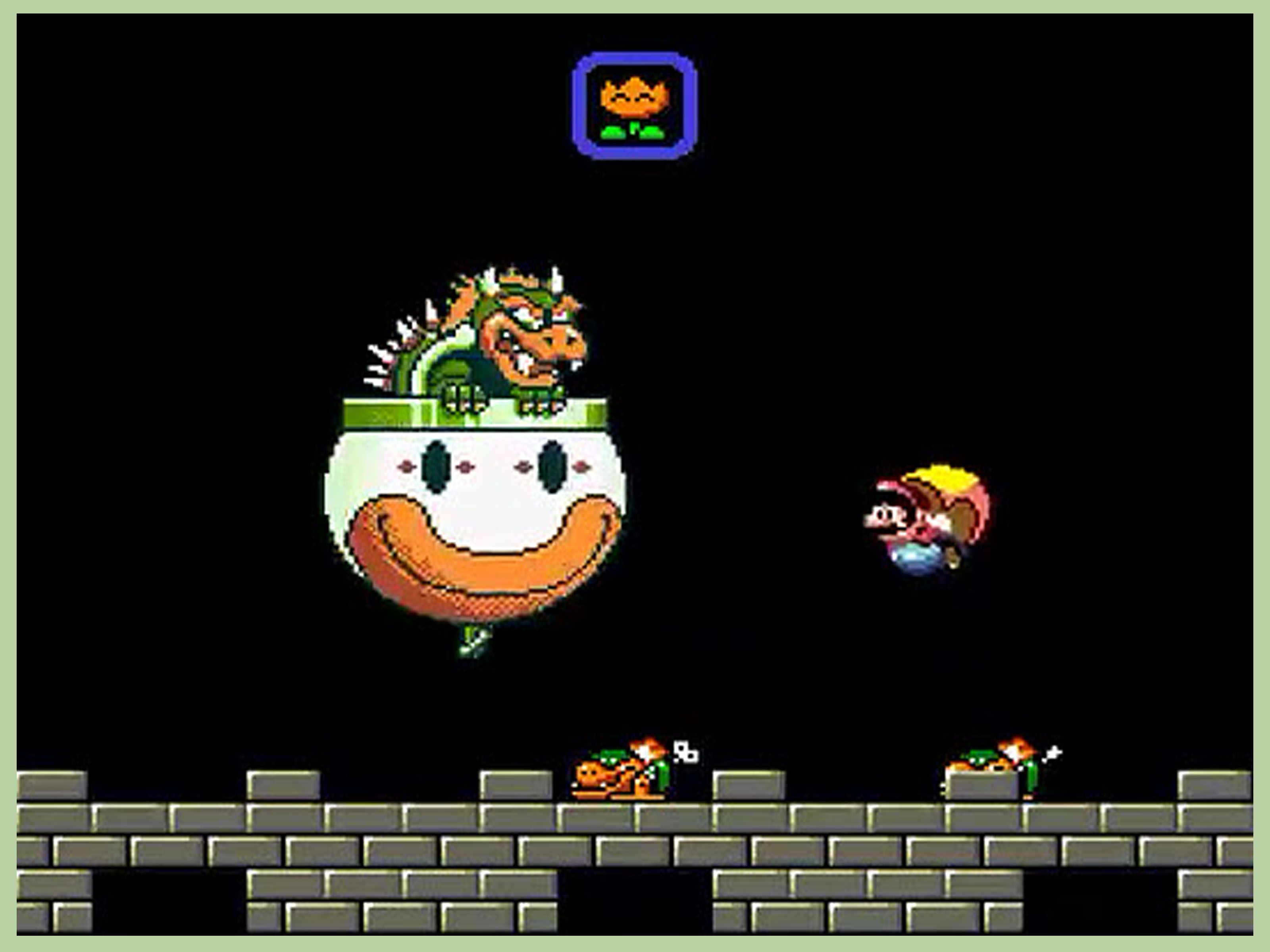 Clown Car Smb Wallpaper How To Beat Bowser In Super Mario World With Pictures