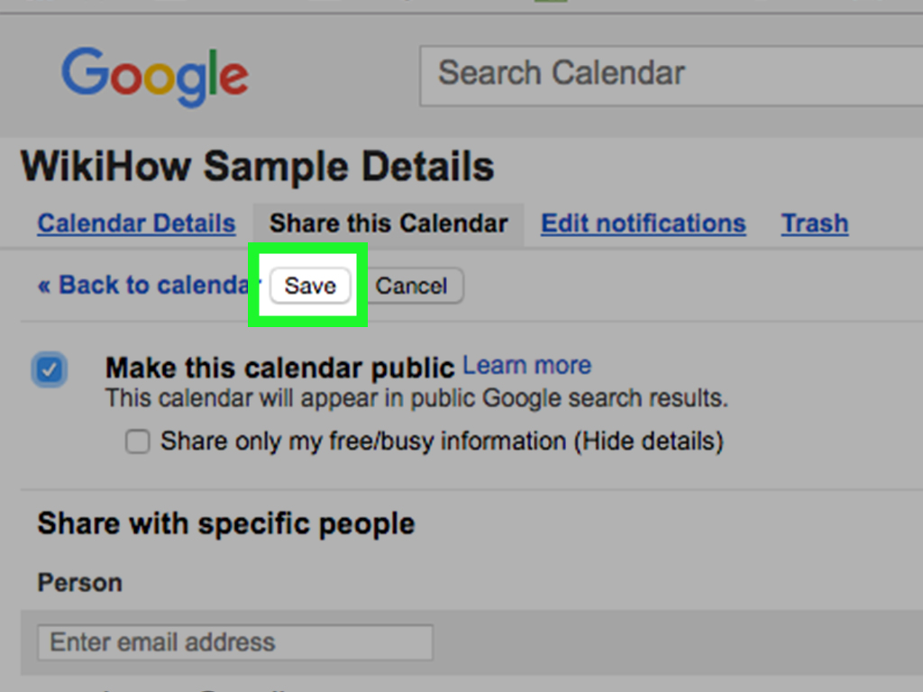 How to Share Your Google Calendar: 14 Steps (with Pictures)