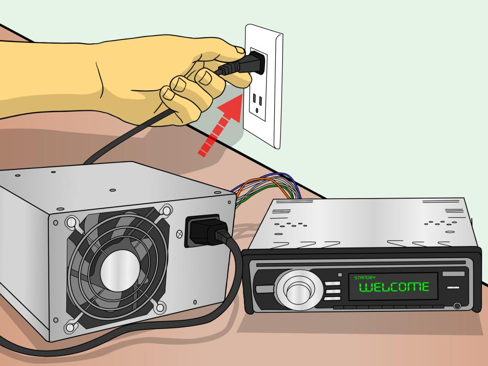 medium resolution of how to connect a car stereo for house use with a psu 11 steps rh wikihow com 1999 sonata radio jeep radio wiring 00
