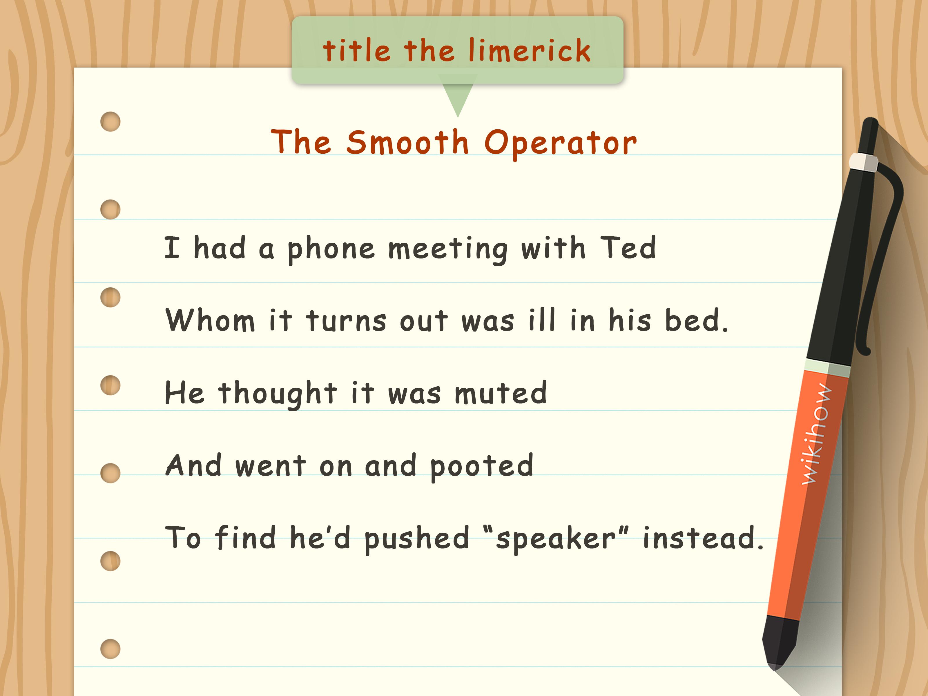 Create Limerick Poems Worksheets