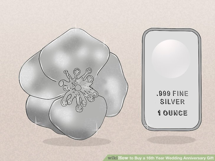 3 Ways to Buy a 16th Year Wedding Anniversary Gift  wikiHow