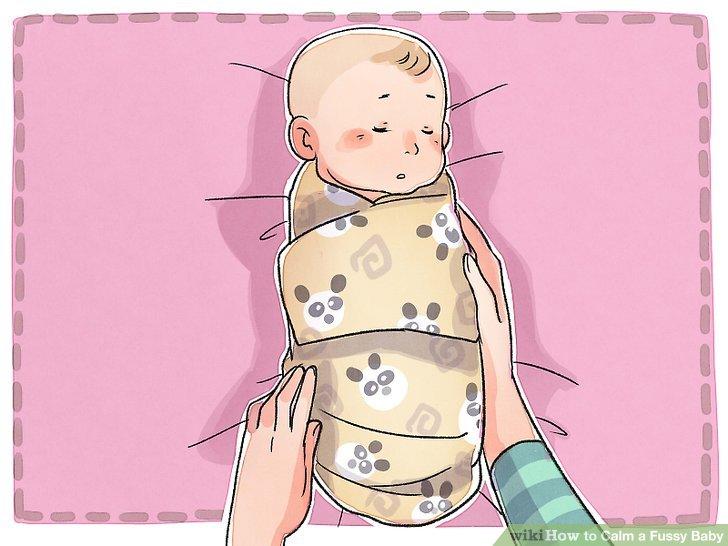 Wickeln Sie Ihr Baby.