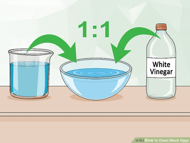 Create a cleaner using vinegar and water.