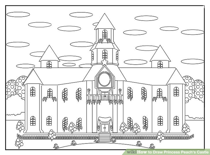 How to Draw Princess Peach's Castle: 8 Steps (with Pictures)
