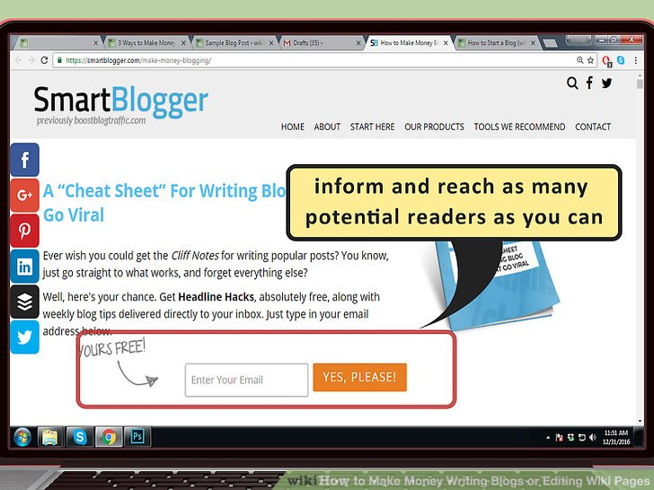 Werben Sie für Ihren Blog.