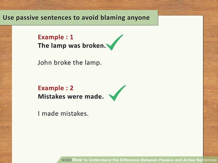 Use passive sentences to avoid blaming anyone.