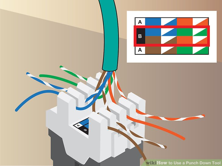 keystone wiring diagram 1972 chevy chevelle how to use a punch down tool 9 steps with pictures wikihow image titled step 3