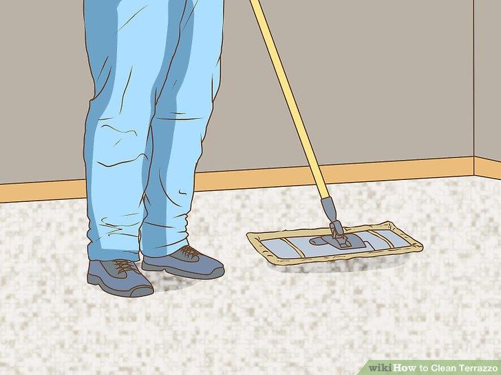 Wischen Sie den Boden regelmäßig mit Staub ab.