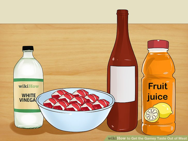 Choose an acidic marinade.