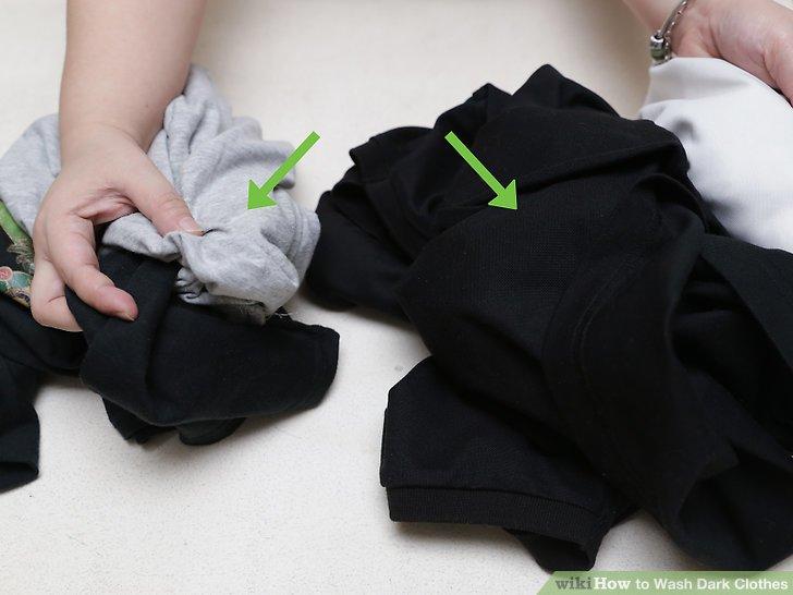 Trennen Sie Ihre Kleidung nach Stoffart.