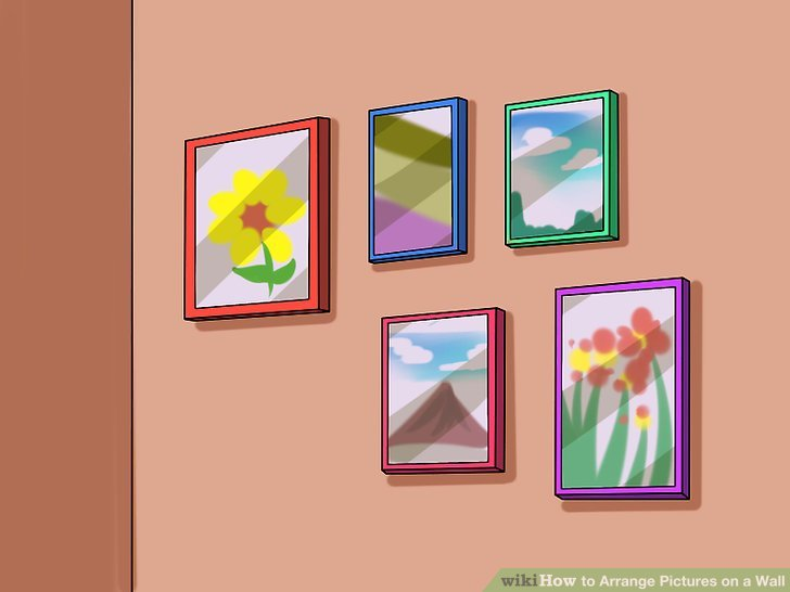 How to Arrange Pictures on a Wall 14 Steps with Pictures