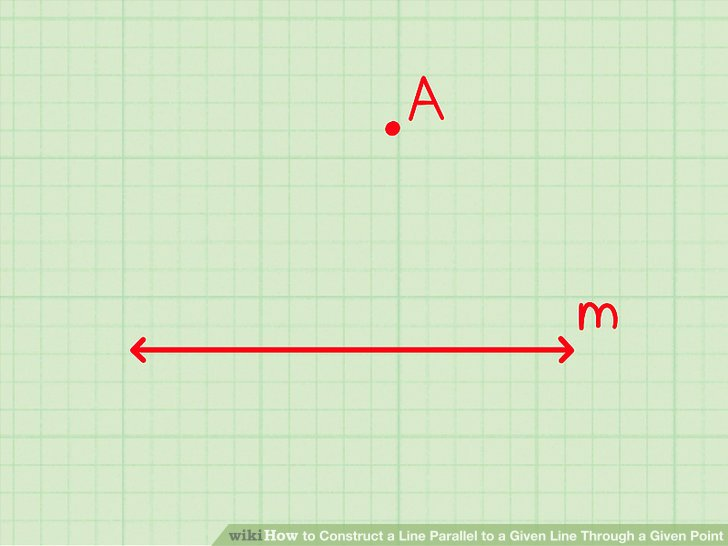 Locate the given line and the given point.