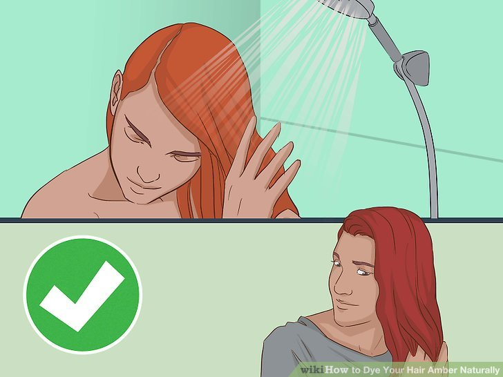 Remove the plastic wrap, t-shirt/towel and rinse out your hair.