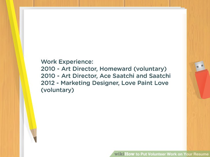 resume put volunteer experience