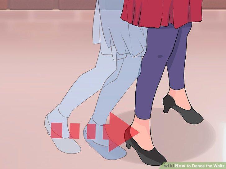 Bewegen Sie Ihren rechten Fuß nach vorne, so dass er parallel zu Ihrem linken Fuß ist.