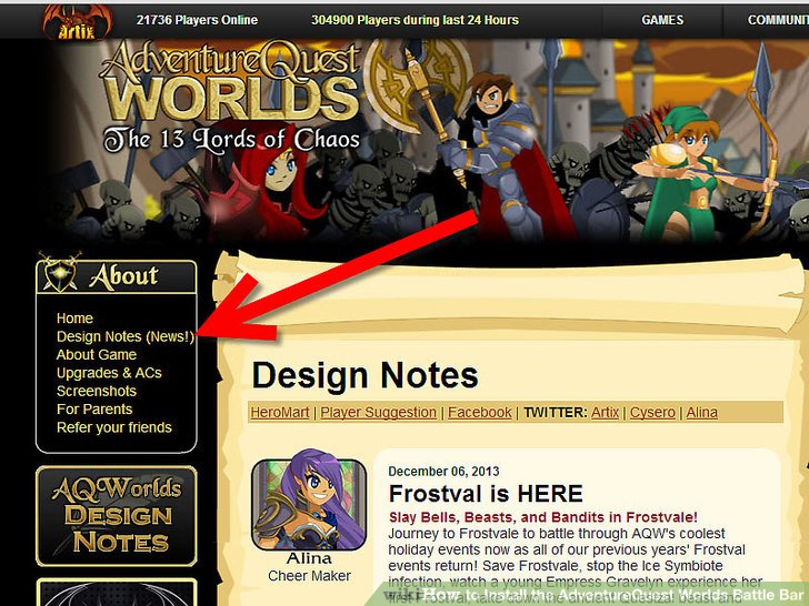 How To? - How to Install the AdventureQuest Worlds Battle Bar