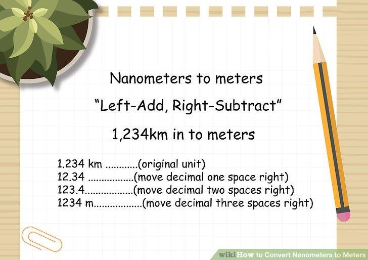 3 Ways to Convert Nanometers to Meters - wikiHow