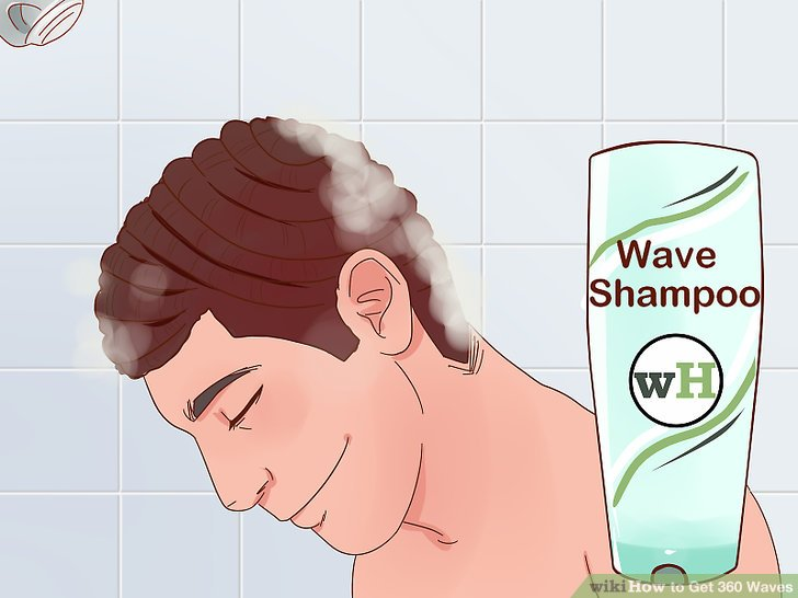 Wash your hair with wave shampoo.