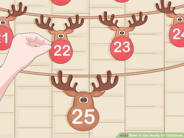 Machen Sie Ihre eigene Version eines Adventskalenders.