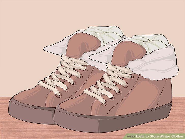 Füllen Sie Ihre Nicht-Stiefel mit Seidenpapier und verstauen Sie sie.