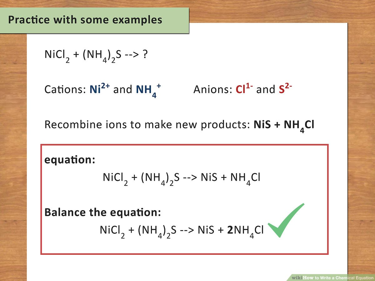 hight resolution of How to Write a Chemical Equation (with Pictures) - wikiHow