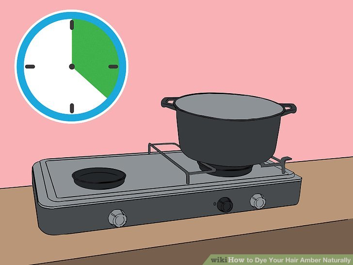 Let the solution simmer for 15 to 20 minutes.